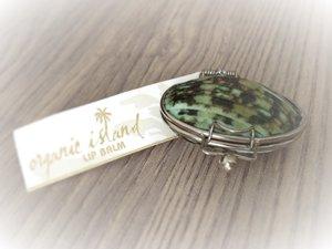 Organic Island Shell Lip Balm Turquoise