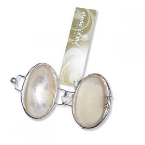 Organic Island Shell Lip Balm White Pearl