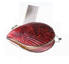 Organic Island Shell Lip Balm Oriental Fan Burgunder